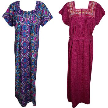 Womwns Zeva Caftan Evening Dress Cotton Summer Kaftan Nightgown XL Lot os 2: Amazon.ca: Clothing & Accessories
