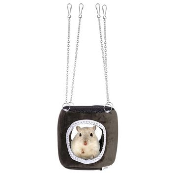 UEETEK Small Pet Hammock Hanging Snuggle Cave Hut for Hamster Squirrel Chinchilla Guinea Pig