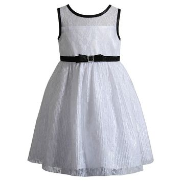 Youngland Floral Lace Dress - Girls