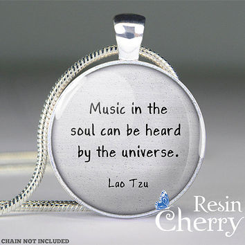Lao Tzu quote pendantquote jewleryquote by resincherry on Etsy
