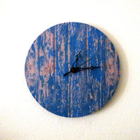 Shabby Chic Wall  Clock, Kitchen Clock, Blue Home Decor, Unique Wall Clock, Home and Living, Housewares, Unique Gift