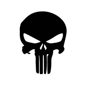 Punisher Sticker Decal for Car Truck Laptop ANY COLOR die cut vinyl Any Corlor