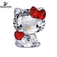 Swarovski Crystal Figurine HELLO KITTY RED APPLE #1096878