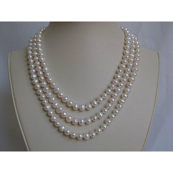 White Freshwater Pearl Necklace PN107