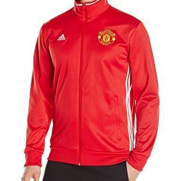 adidas Mens Manchester United FC 3 Stripe Track Top