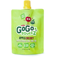 GoGo Squeez Apple Cherry Applesauce 3.2 oz Pouches - Pack of 48