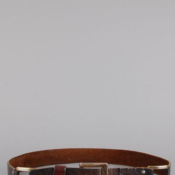 Ride On Linked Distressed Leather Belt