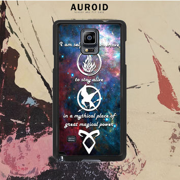 Divergent, Mortal Instrument, And Hunger Game Samsung Galaxy Note 4 Case Auroid