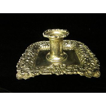 Tiffany By Godinger Silver Chamber Candle Holder Floral Design
