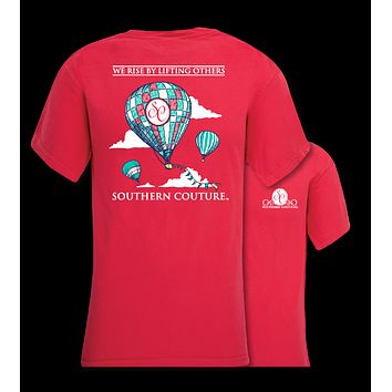 Southern Couture We Rise By Lifting Others Hot Air Balloon Comfort Colors T-Shirt