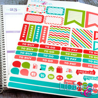 Swirl Pop Weekly Designer Life Planner Kit Stickers!!!!  Set of 59 Perfect for the Erin Condren Planner!!!!