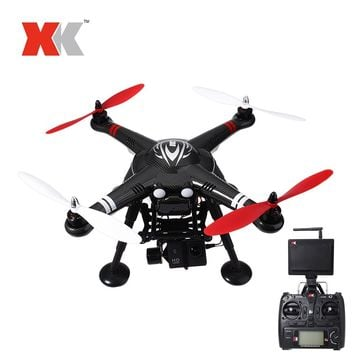 XK RC Drone Dron 2.4GHz 4CH FPV Headless Mode RTF Quadcopter with HD Camera 1080P Drones with GPS Brushless Motor RC Helicopter