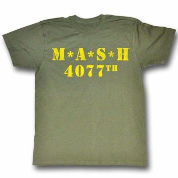 Green and Yellow MASH T-shirt
