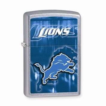 Zippo Detroit Lions High Polish Chrome Lighter - Engravable Gift Item