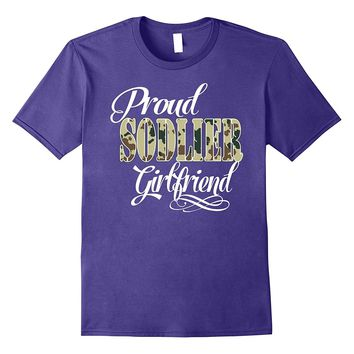I love my soldier soldier girlfriend wife t-shirt