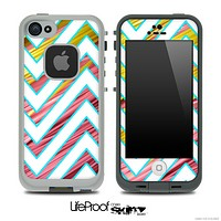 Large Chevron and Neon Straws Skin for the iPhone 5 or 4/4s LifeProof Case