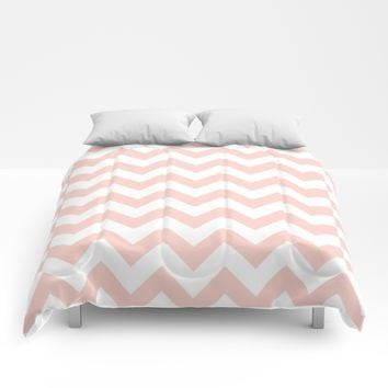 Peach Chevron Pattern Art Print by New Wave Studio