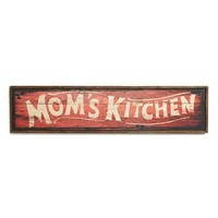 Creative Co-Op 'Mom's Kitchen' Wooden Wall Plaque - Brown