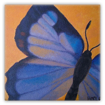 Colorado Hairstreak Butterfly - Metal Magnet of Acrylic Paint Fine Art