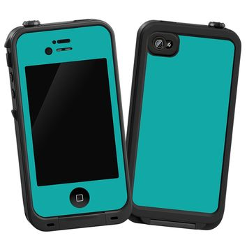 "Turquoise ""Protective Decal Skin"" for LifeProof iPhone 4/4s Case"