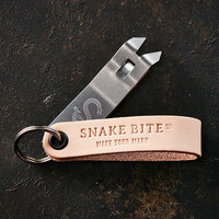 Snake Bite Keychain Bottle Opener - Natural