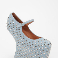 Jeffrey Campbell Prickly Blue Jean Platform Mary Jane