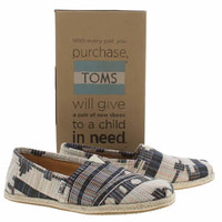 Mens Navy & White Toms Classic Geometric Shoes | schuh