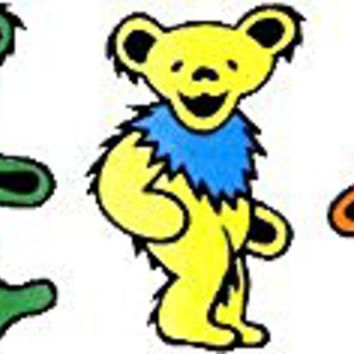 "- 5 Jerry Bears on Clear Background - 10"" x 2 3/4"" - Sticker / Decal"