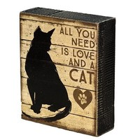 Love (and a Cat) Decorative Sign