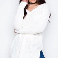 Etta Knit Sweater - Ivory