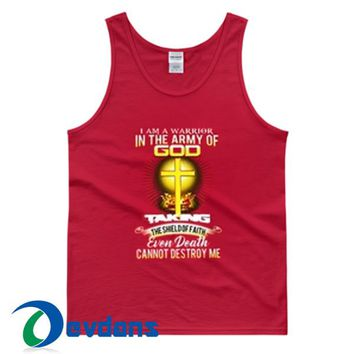 I Am A Warrior In The Army Of God Tank Top Men And Women Size S to 3XL
