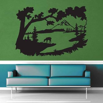 Deer Valley Silhouette - Wall Decal$8.95