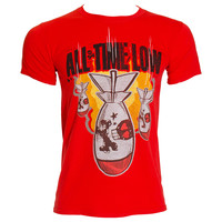 All Time Low Red Dabomb T Shirt, Official Band Merchandise