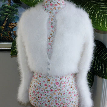 Wedding Bolero 100% angora rabbit Handmade very FLUFFY Inspired by Kate Middleton Angora Shrug / Bolero, Made To Order