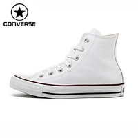 Original Converse Classic Unisex Leather Skateboarding Shoes High top Sneakser