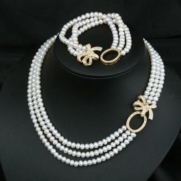 DCCKIX3 Jewelry Gift New Arrival Shiny Stylish Pearls 925 Silver Butterfly Accessory Necklace [4914866372]