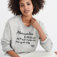 Womens Embroidered Logo Sweatshirt | Womens Clearance | Abercrombie.com