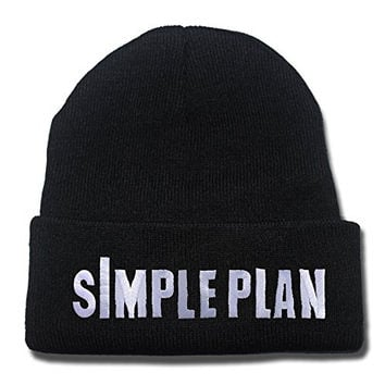 HAIHONG Simple Plan Band Logo Beanie Fashion Unisex Embroidery Beanies Skullies Knitted Hats Skull Caps