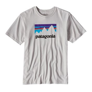 Patagonia Men's Shop Sticker Cotton T-Shirt