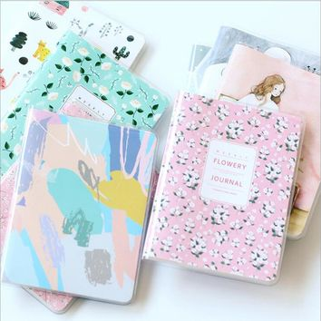 A6 Portable Waterproof Jacket Cover Half A Year Weekly Plan Notebook Creative Inner Pages Monthly Line Planner Organizer Diary