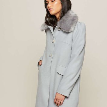 Fur Trim Collar Dolly Coat | Missselfridge