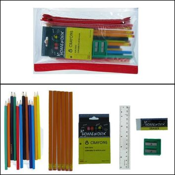 Back to School Pencil & Crayon Kit - CASE OF 48