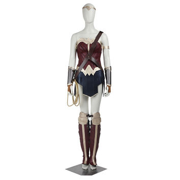 2016 Movie Batman v Superman:Dawn of Justice Wonder Woman For Adult Cosplay Costume Custom Made For Halloween Party