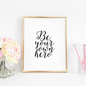 Nursery Decor Inspirational Print Nursery Wall Art Gift For Boy Nursery Poster Motivational Quotes Be Your Own Here Printable Art Quotes Art