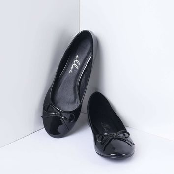 Black Bow Mila Flats