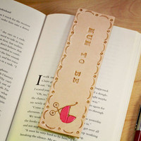 Mum To Be Gift, Leather Bookmark, Unique Gifts, New Mum Pregnancy Gift, Baby Shower Gift, Baby Girl or Baby Boy Leather Bookmarker MB174