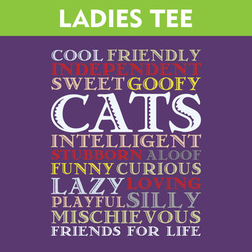 Cats Are Best Friends For Life - Ladies T-Shirt