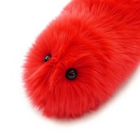 Sparky Red Fuzzy Caterpillar Stuffed Toy Snuggle Worm Plushie