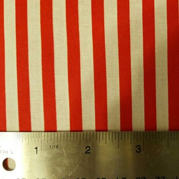 Red - white - stripes - fabric - cotton