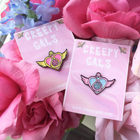 "Sailor Moon Crisis Heart 1.25"" Enamel Lapel Pin"